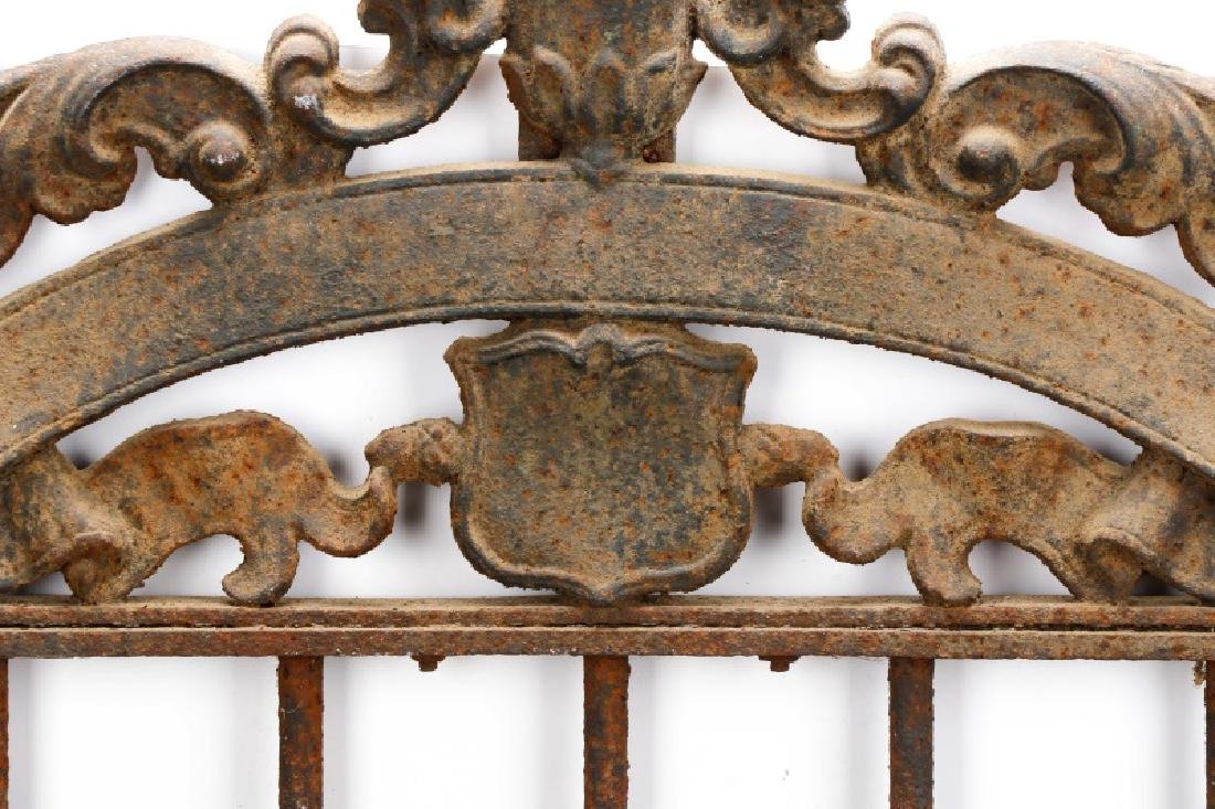 Continental Wrought Iron Church Yard Gate - 5