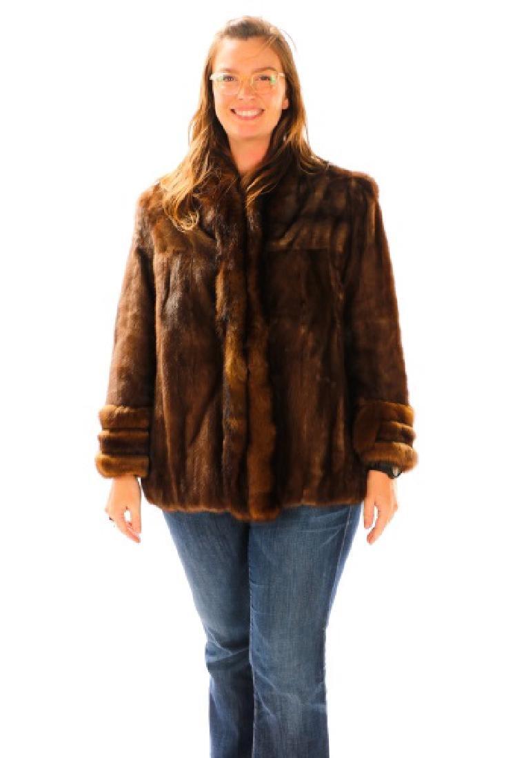 Ladies Hip Length Mink Coat