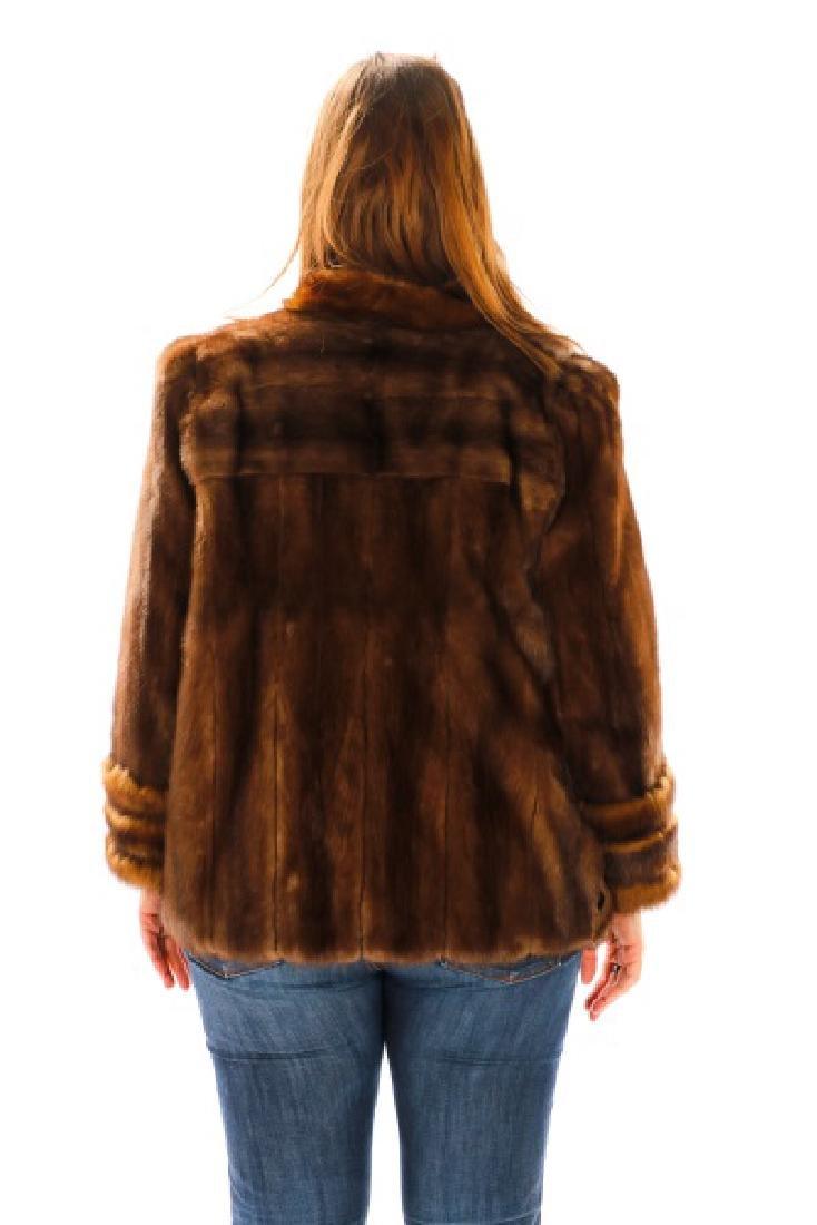 Ladies Hip Length Mink Coat - 2