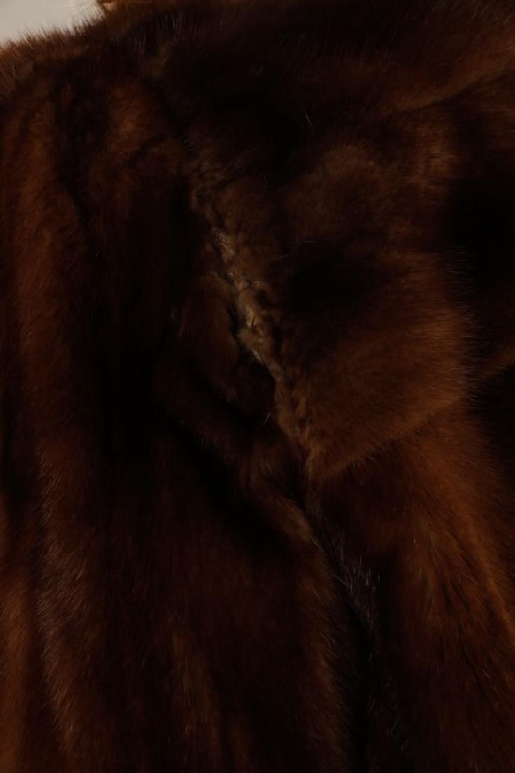 Ladies Hip Length Mink Coat - 3