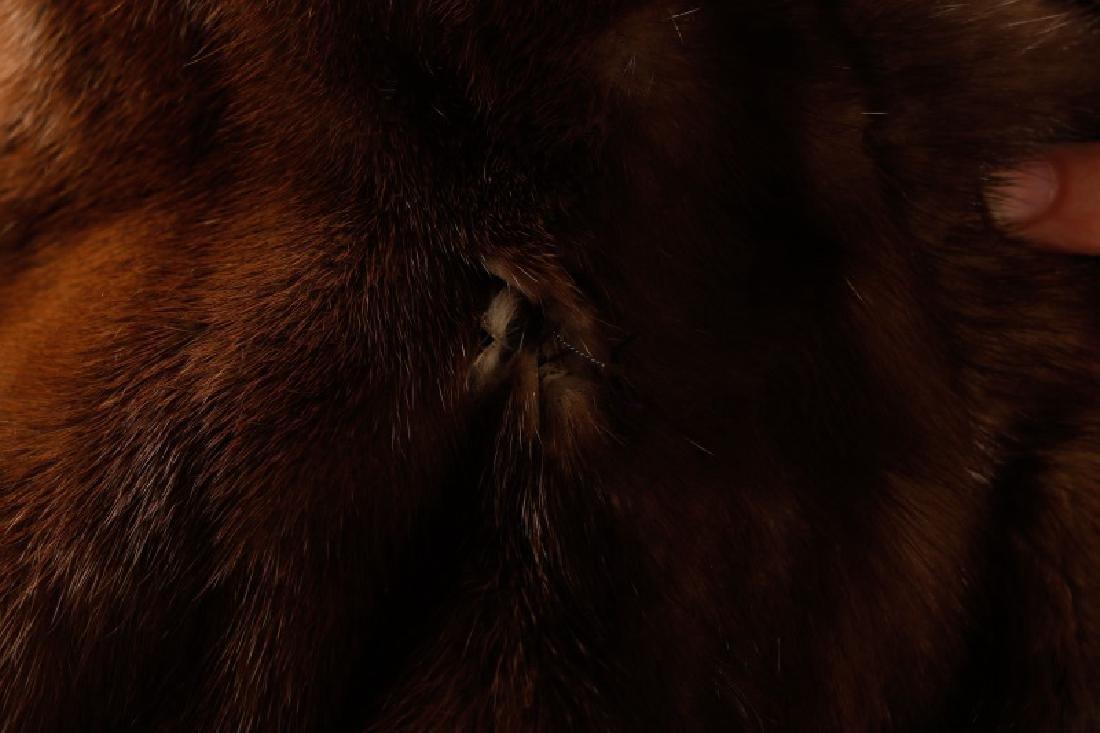 Ladies Hip Length Mink Coat - 4