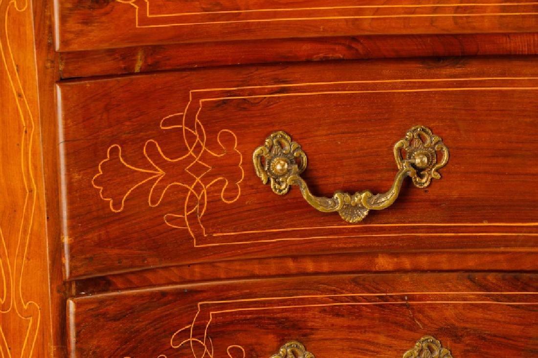 Large Italian Baroque Style Walnut Commode - 3