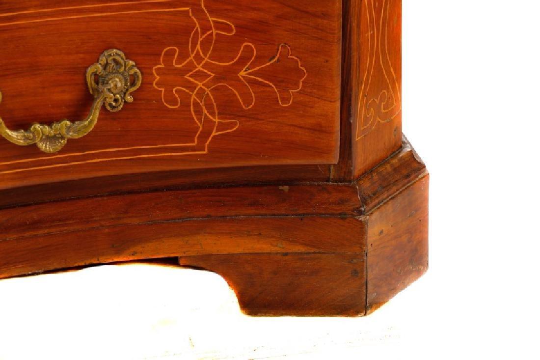 Large Italian Baroque Style Walnut Commode - 4