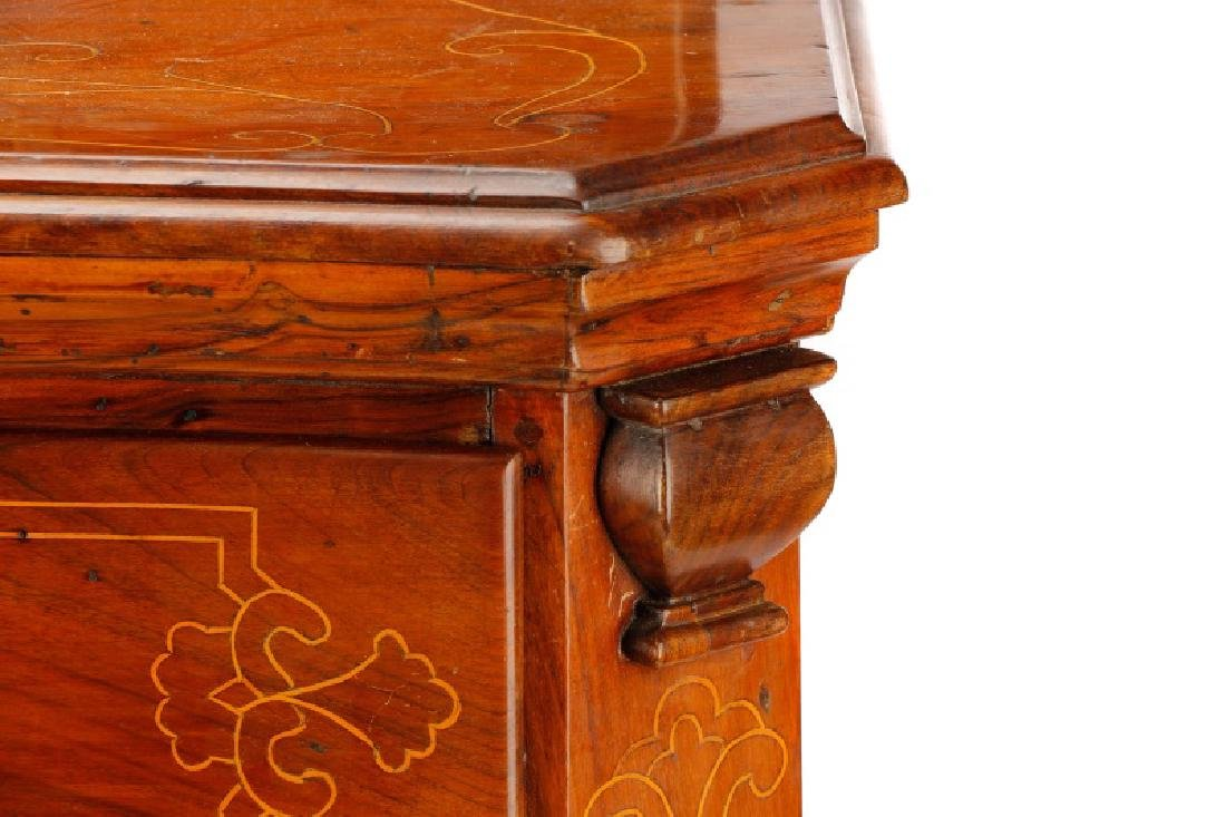 Large Italian Baroque Style Walnut Commode - 5