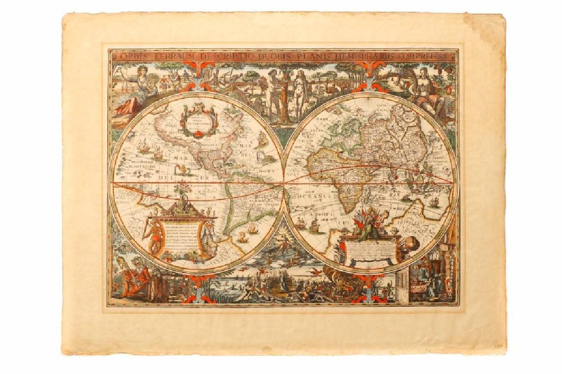 After Van Geelkercken, Orbis Terrarum Map