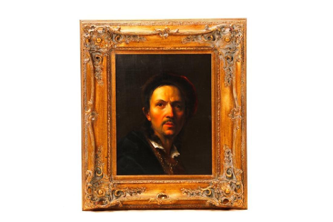 19th C. Dutch Golden Age Style Portrait of a Man