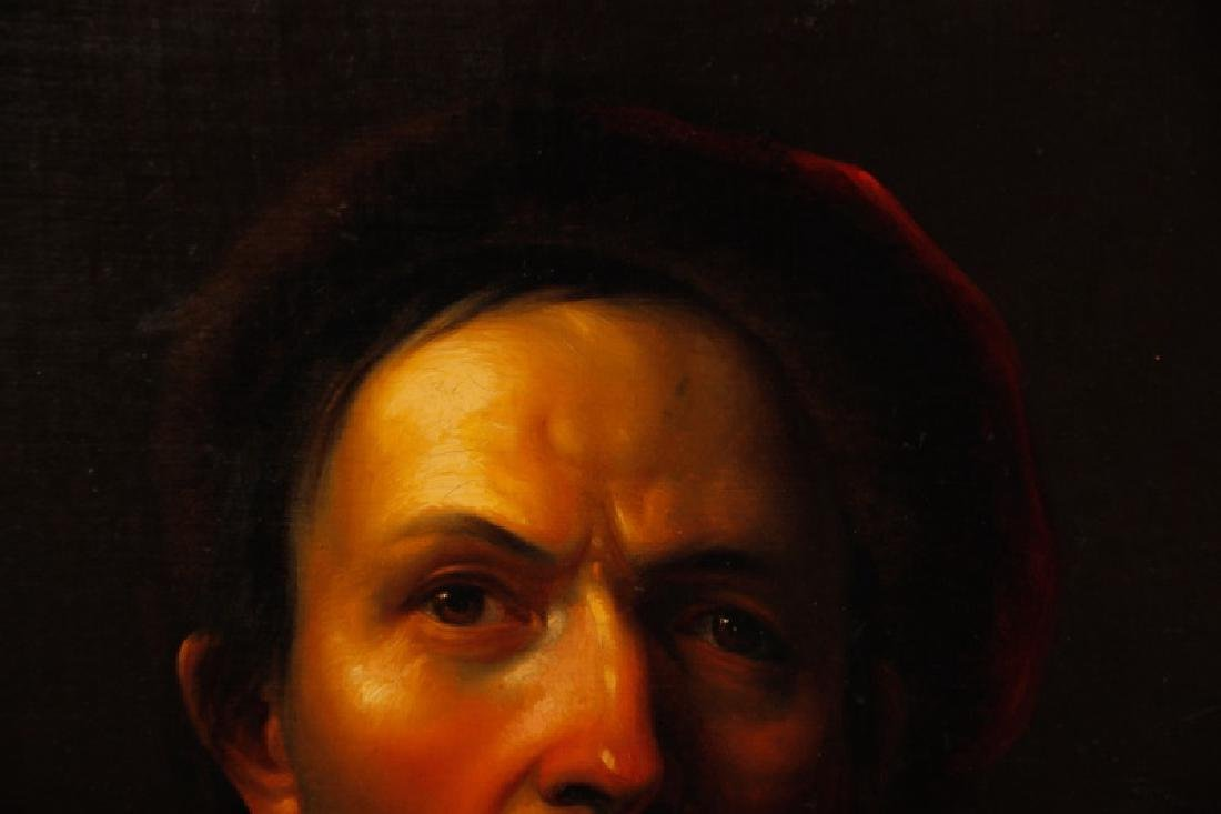 19th C. Dutch Golden Age Style Portrait of a Man - 4