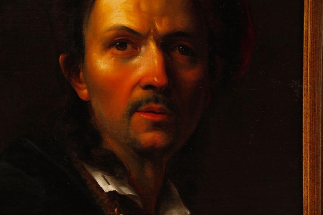 19th C. Dutch Golden Age Style Portrait of a Man - 5