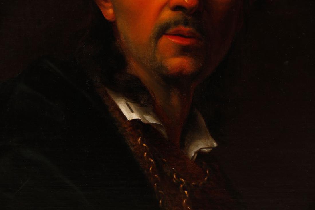 19th C. Dutch Golden Age Style Portrait of a Man - 6