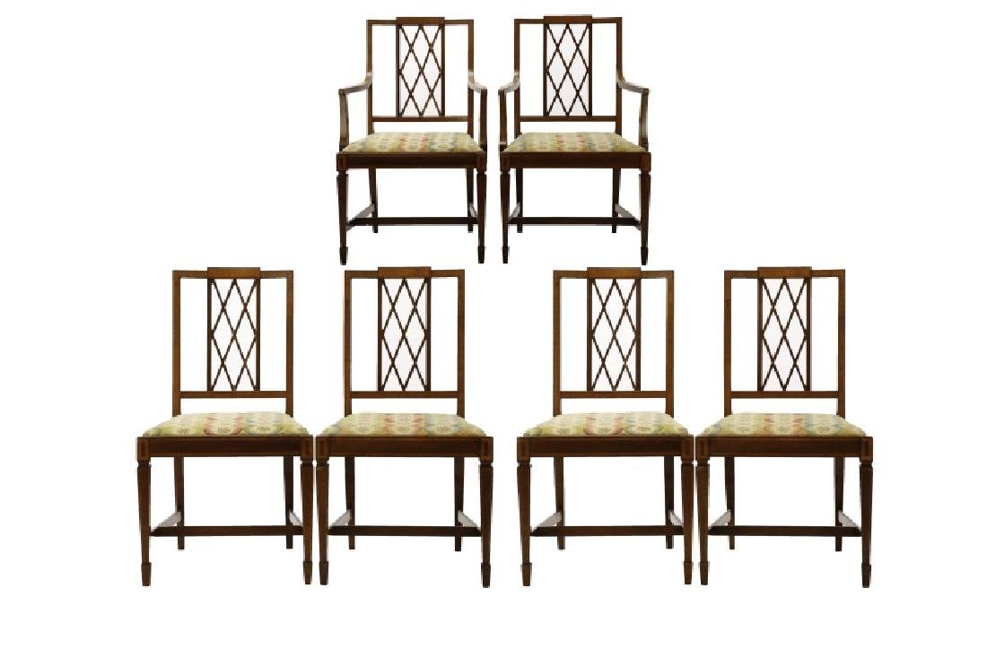 Set, 6 Mahogany Georgian Style Dining Chairs