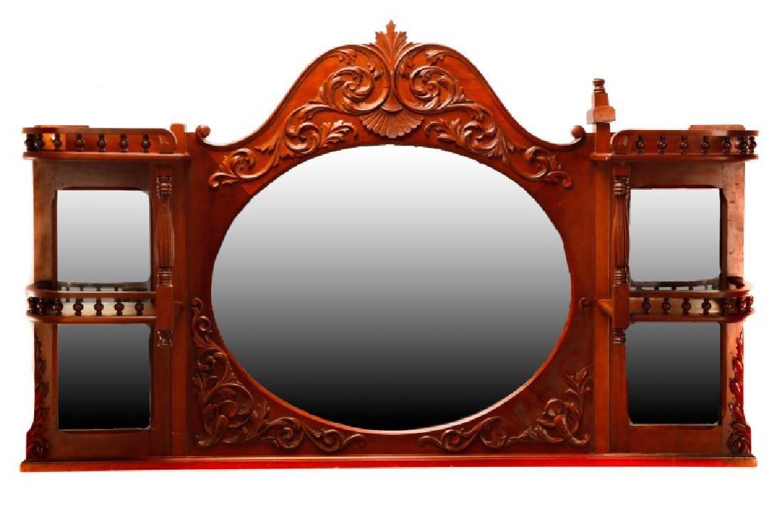 American Cherry Renaissance Revival Style Mirror