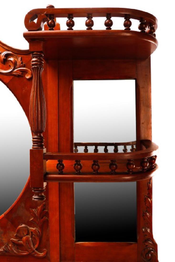 American Cherry Renaissance Revival Style Mirror - 4