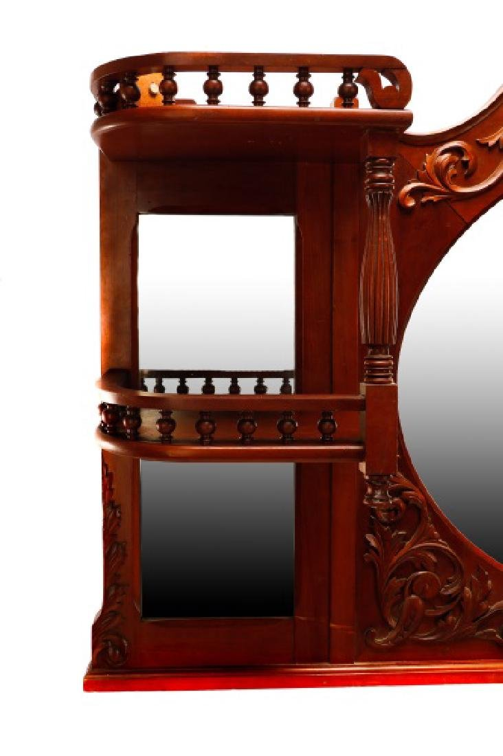 American Cherry Renaissance Revival Style Mirror - 5