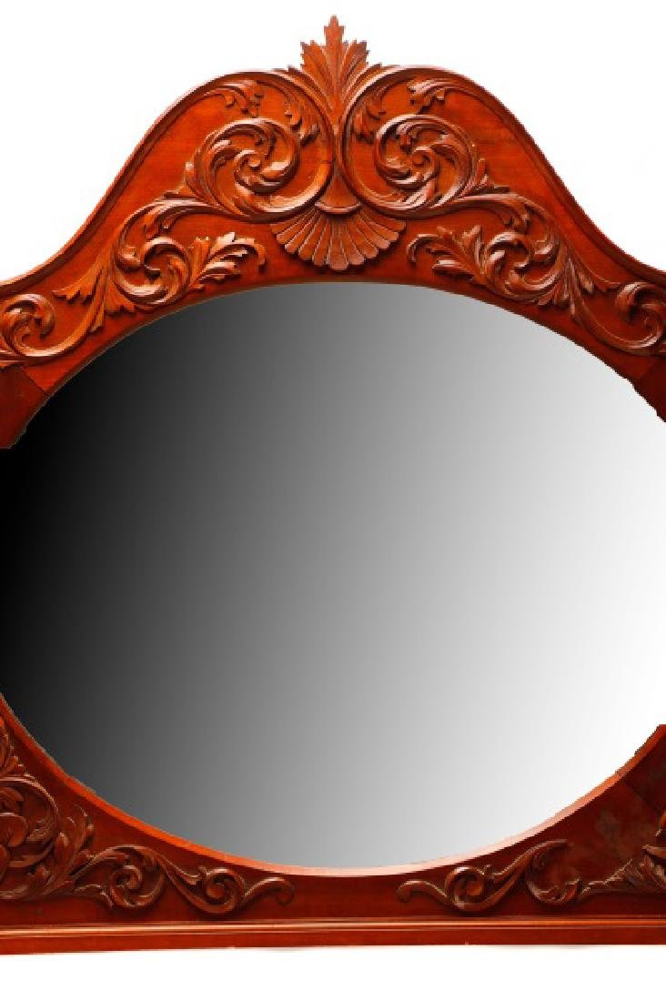 American Cherry Renaissance Revival Style Mirror - 6