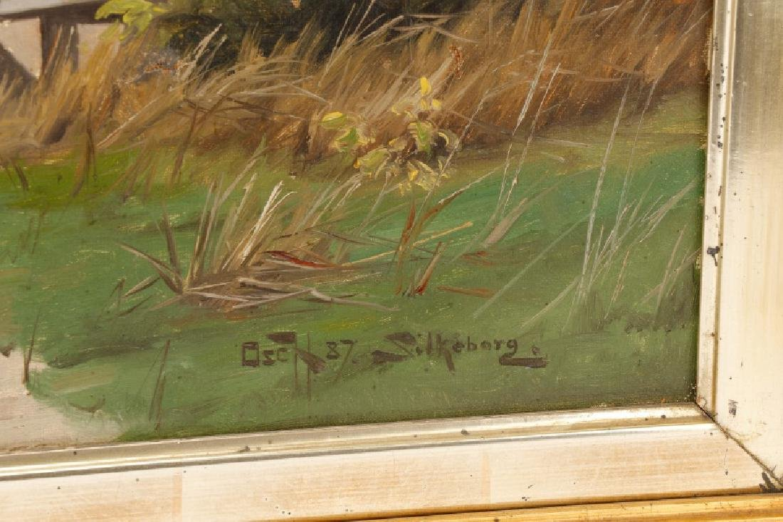 """Oscar Herschend, """"View of Silkeborg"""" O/C - 2"""