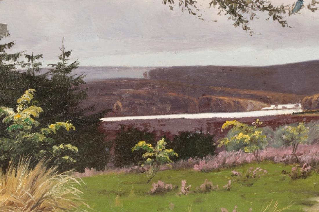 """Oscar Herschend, """"View of Silkeborg"""" O/C - 4"""