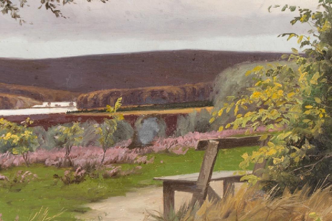 """Oscar Herschend, """"View of Silkeborg"""" O/C - 5"""