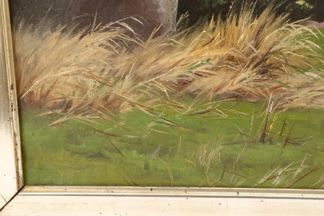 """Oscar Herschend, """"View of Silkeborg"""" O/C - 6"""