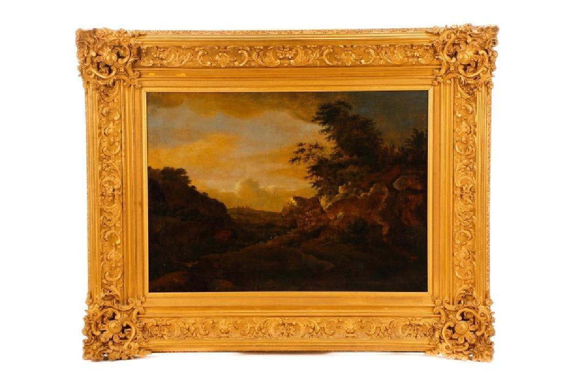 19th C. Large English School Landscape, O/C