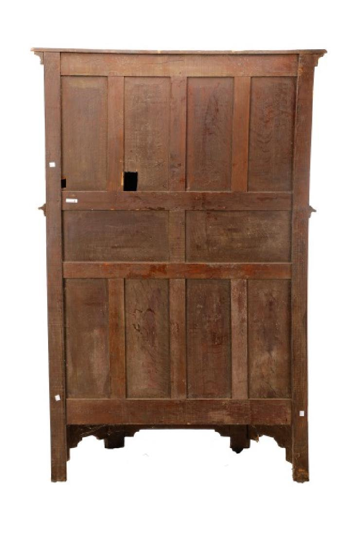 Gothic Revival Gilt & Polychrome Cabinet on Stand - 4