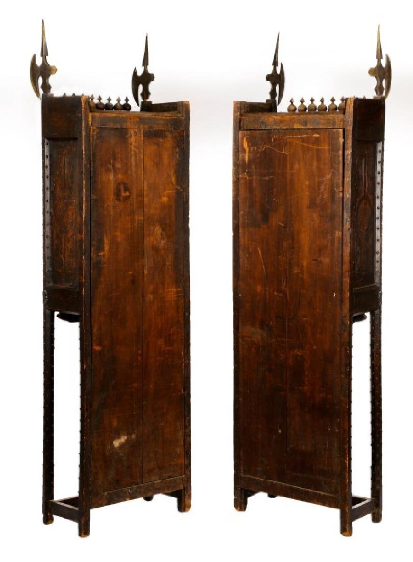 Pair, Highly Unusual Gothic Style Cabinets, 19th C - 2