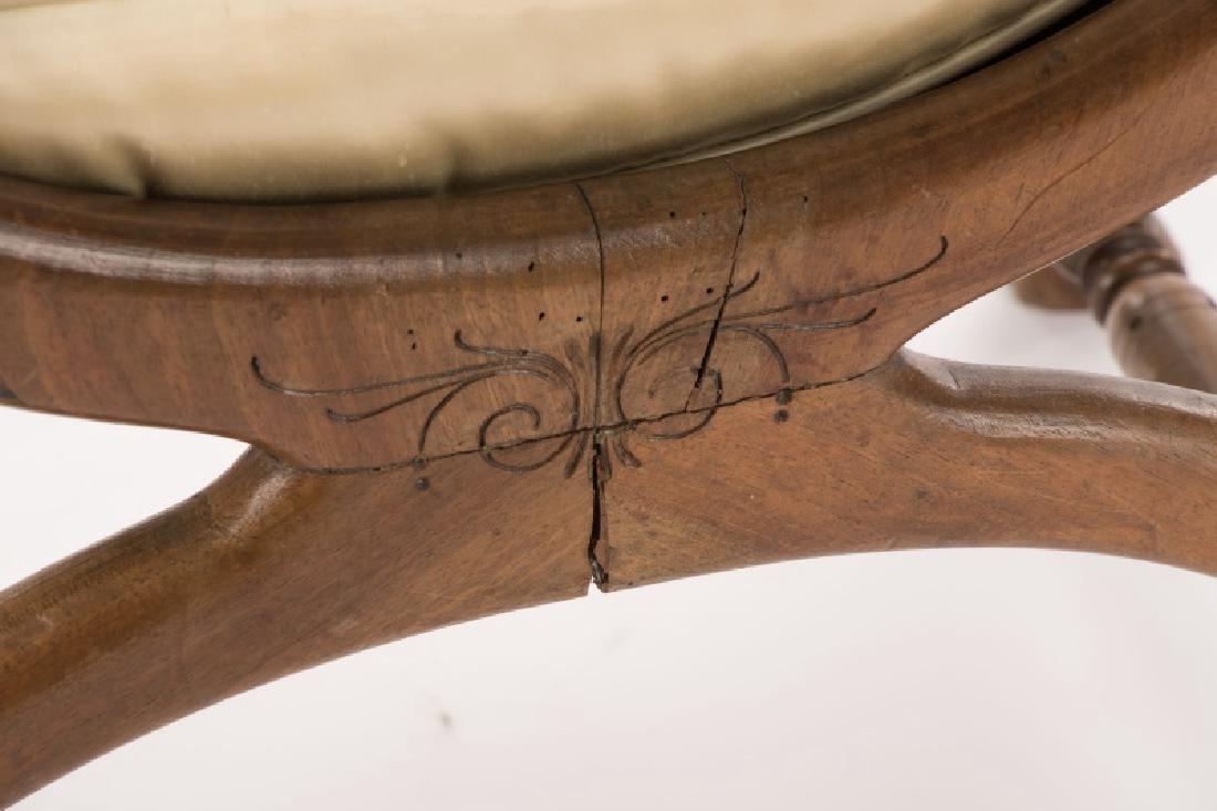 French Louis XVI Figural Rams Head Curule Chair - 10