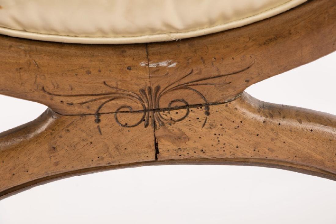 French Louis XVI Figural Rams Head Curule Chair - 4
