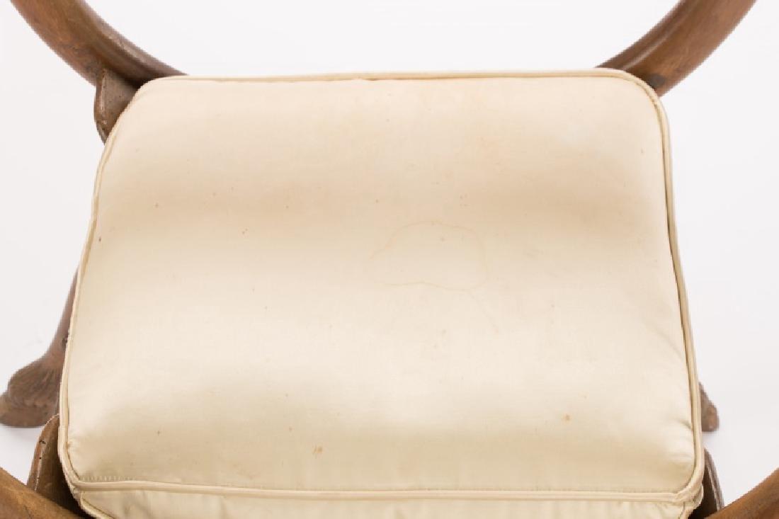 French Louis XVI Figural Rams Head Curule Chair - 7