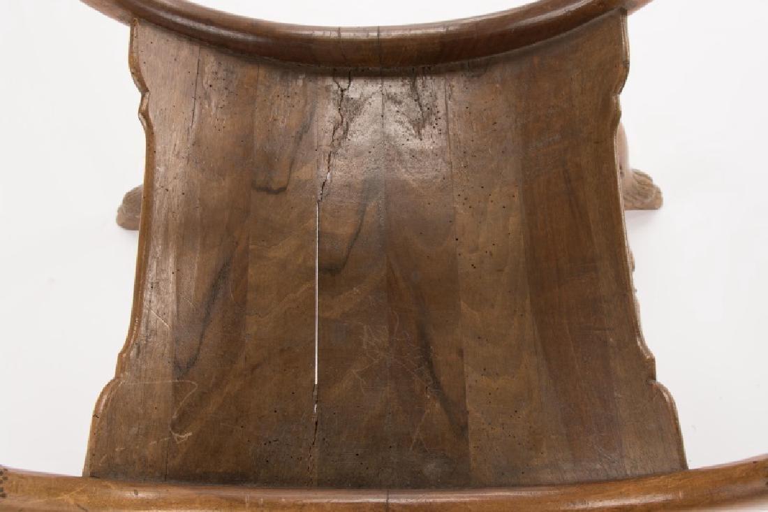 French Louis XVI Figural Rams Head Curule Chair - 8