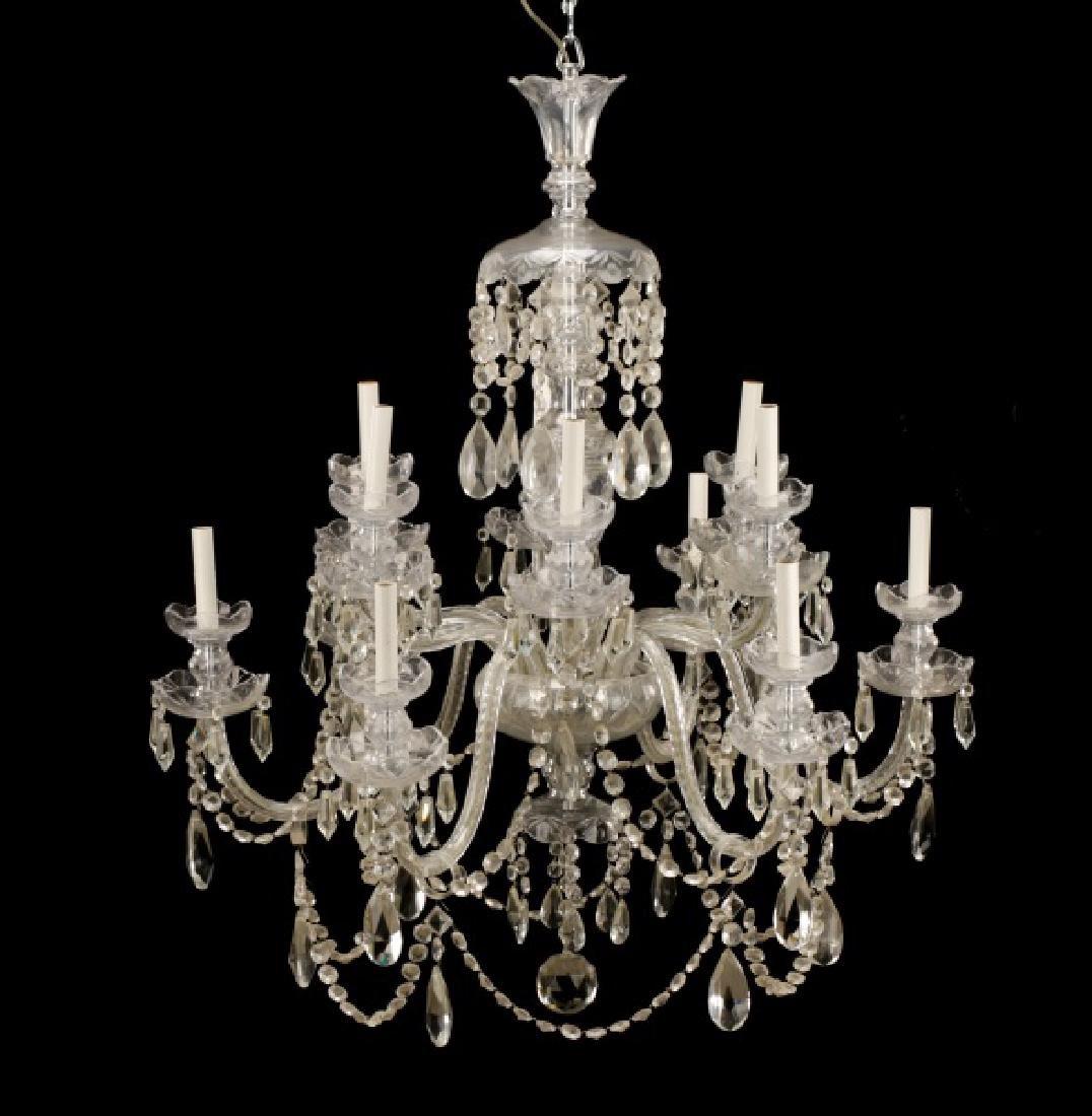 & Biheller Waterford Style Chandelier