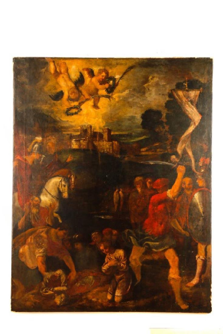 "Continental, ""Death of Saint Catherine"", O/C"