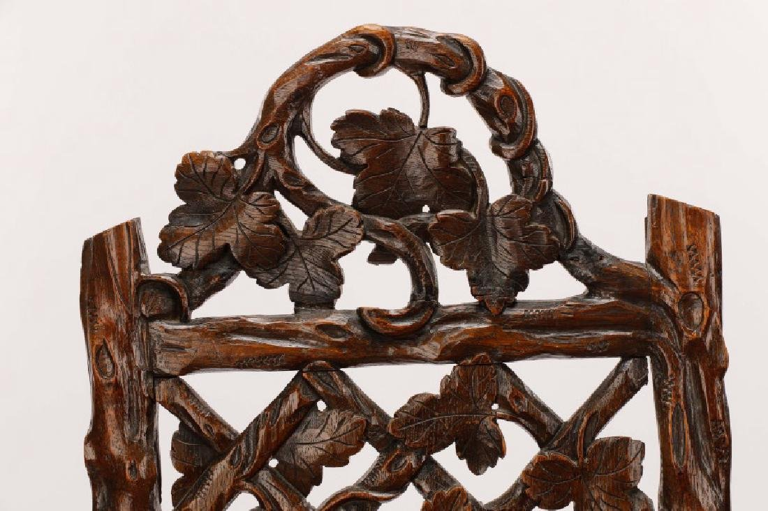 Pair, English Victorian Trellis Cottage Chairs - 2