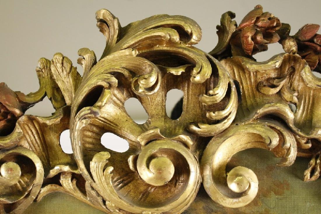 French Highly Carved Giltwood Trumeau, 19th C. - 9