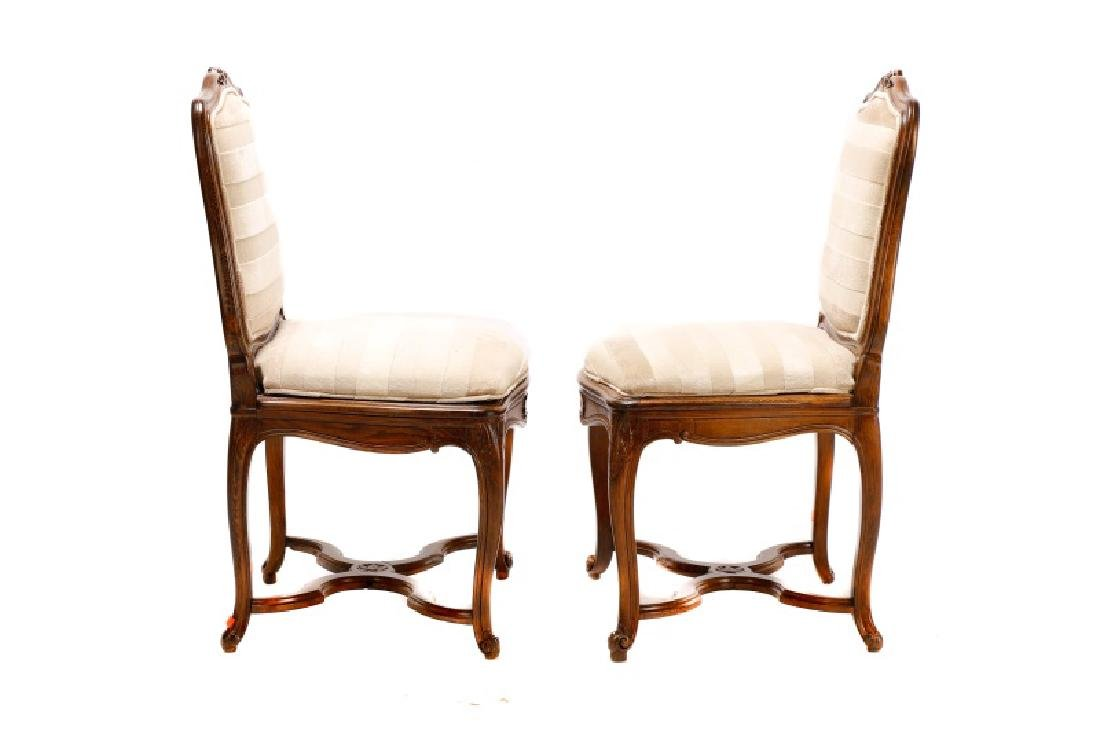 Set, 8 Walnut Louis XV Style Dining Chairs - 3