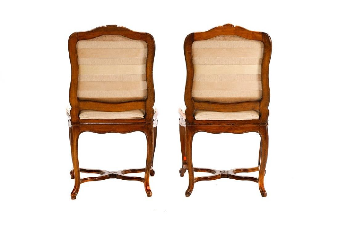 Set, 8 Walnut Louis XV Style Dining Chairs - 4