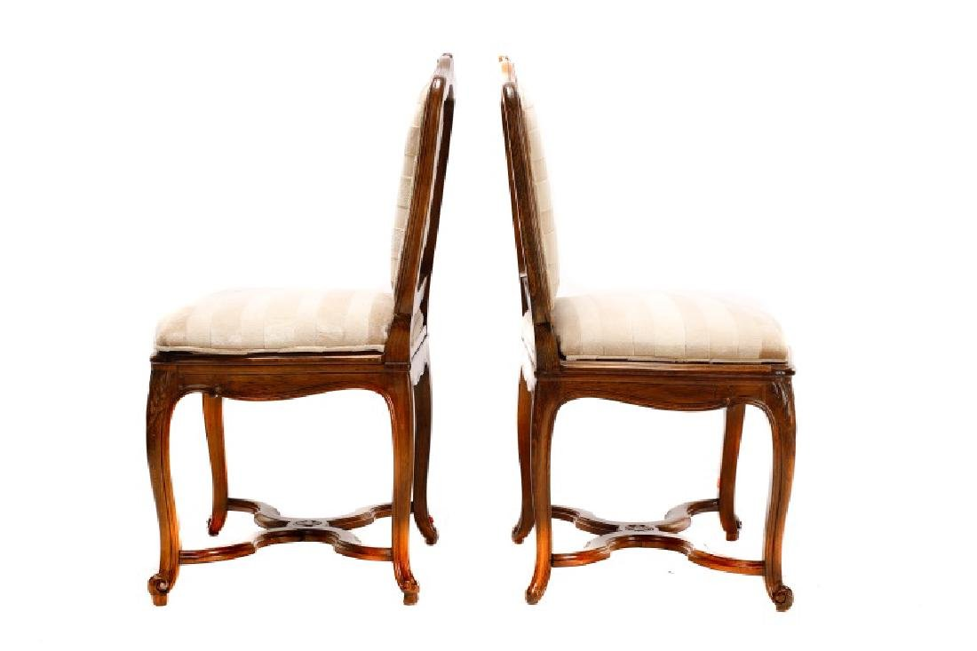 Set, 8 Walnut Louis XV Style Dining Chairs - 5