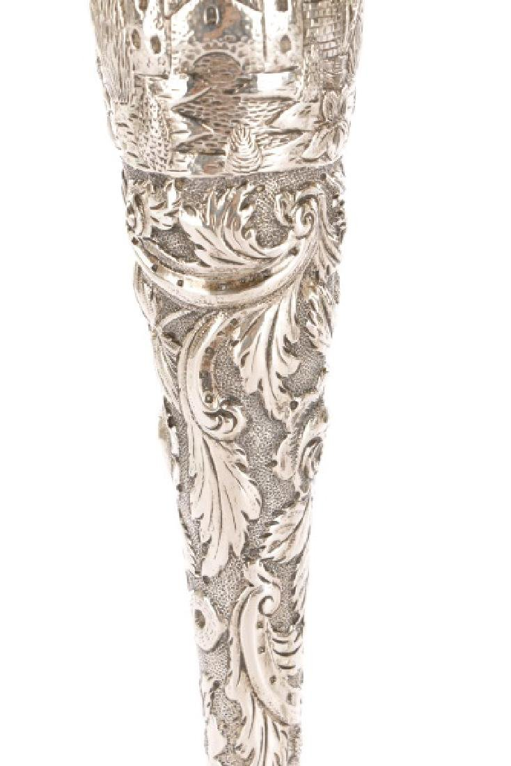 "Loring Andrews Sterling ""Castle"" Candle Sticks - 5"