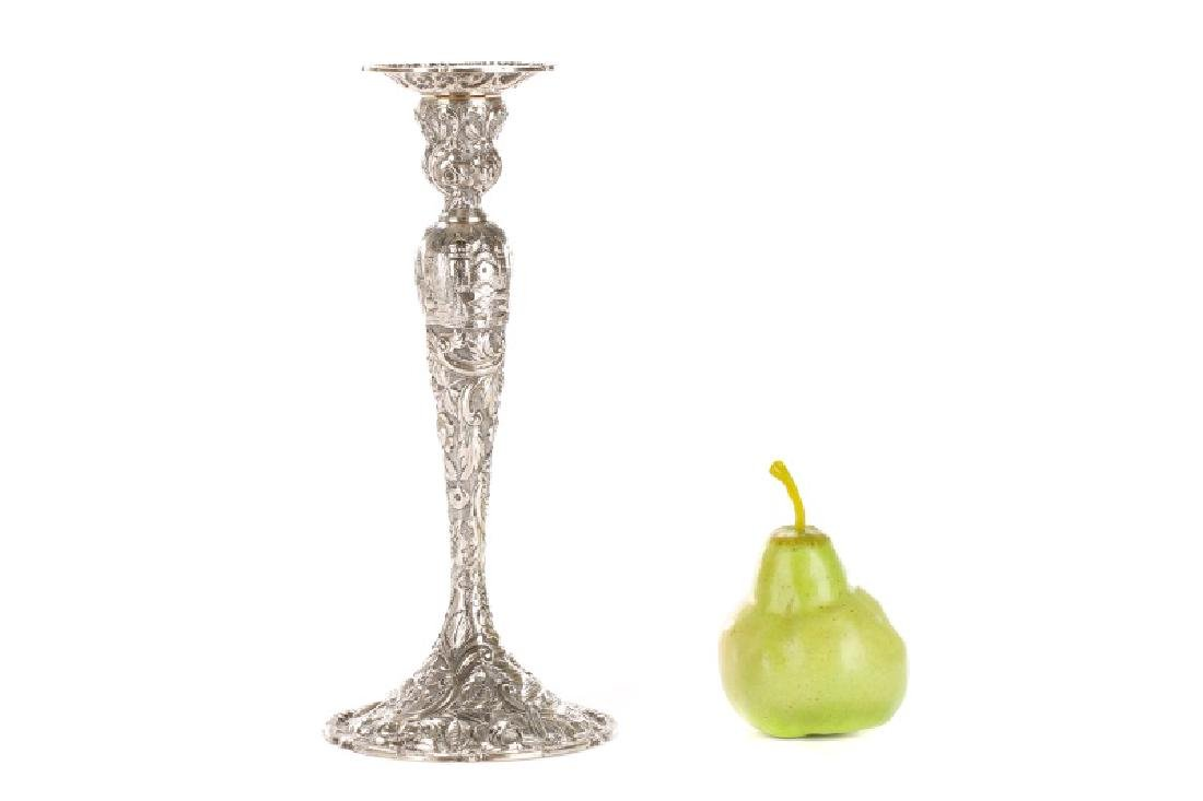 "Loring Andrews Sterling ""Castle"" Candle Sticks - 7"