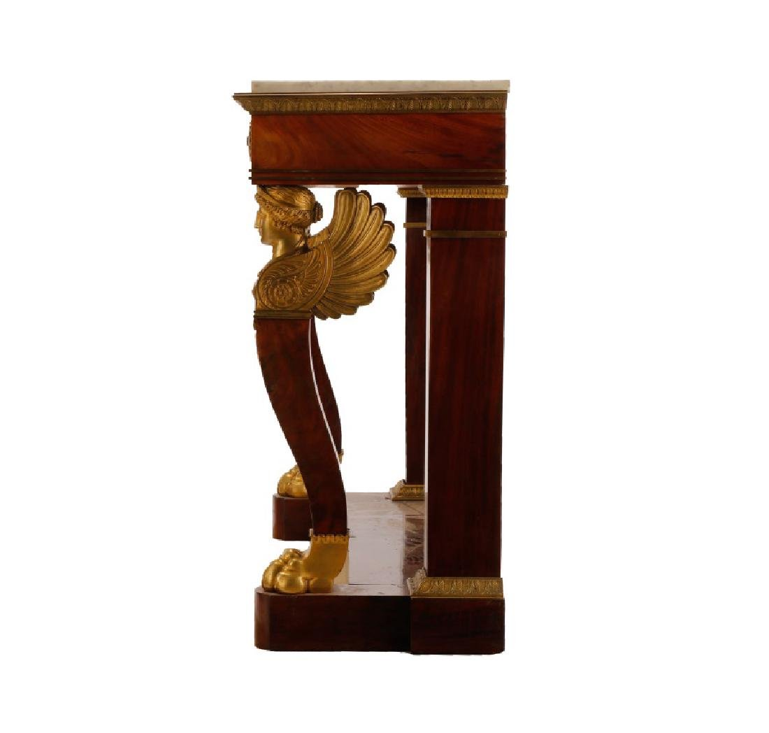 American Empire Figural Mahogany Pier Table - 2
