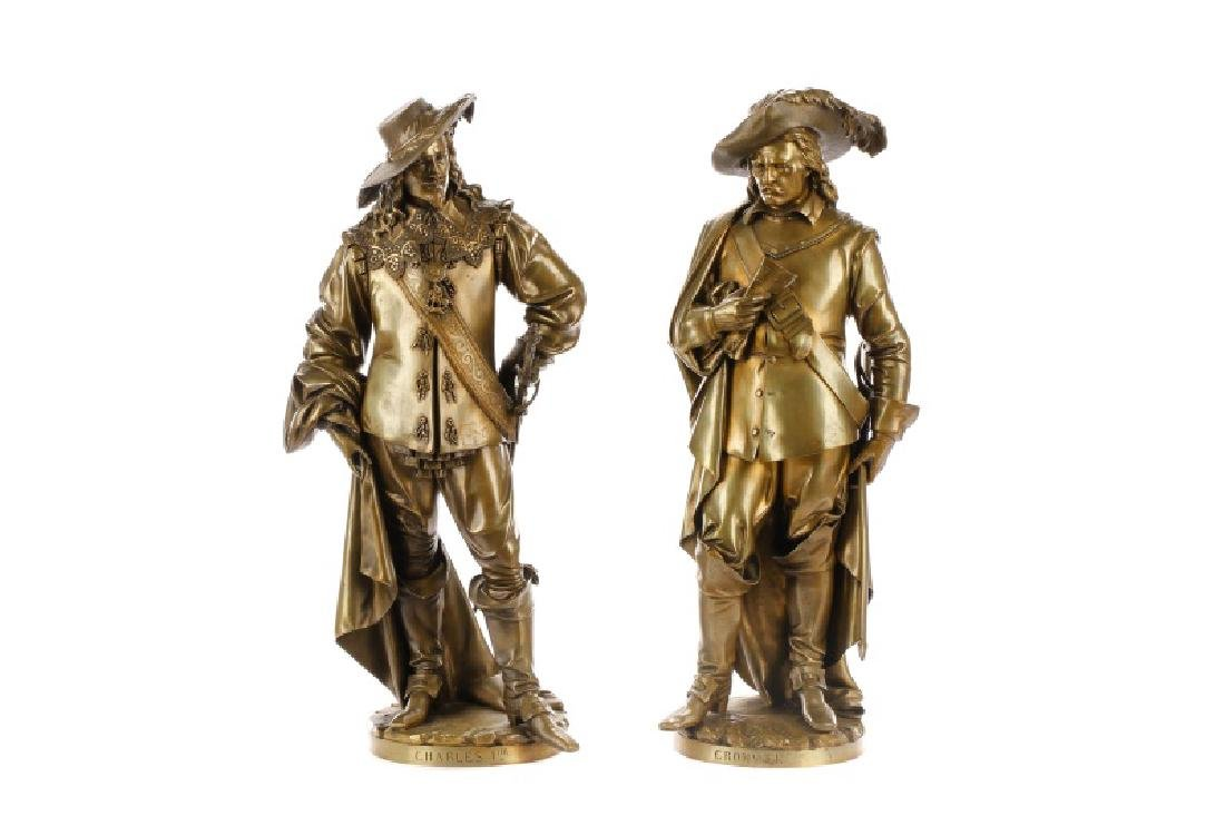 Pair, Bronze Figural Sculptures, Carrier Belleuse