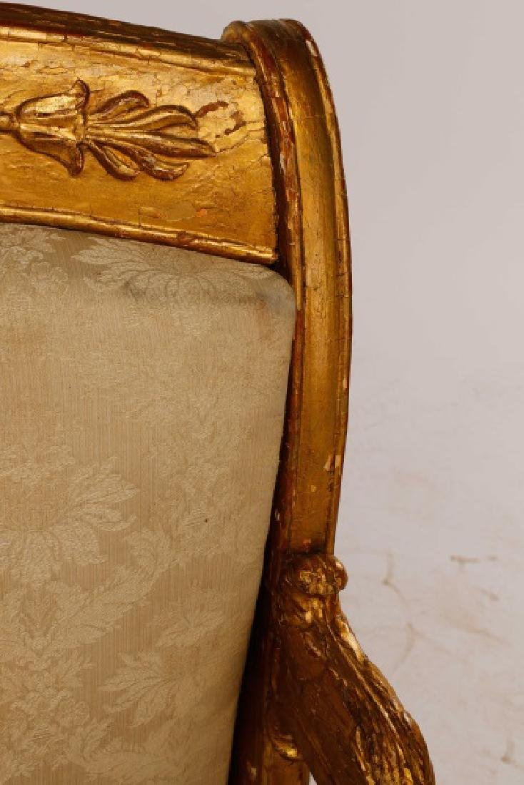 Fine Late Empire French Giltwood Fauteuil, Werner - 10