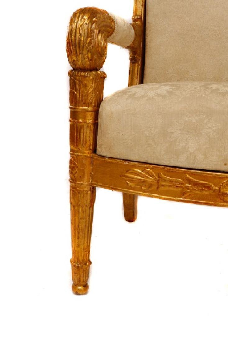 Fine Late Empire French Giltwood Fauteuil, Werner - 3