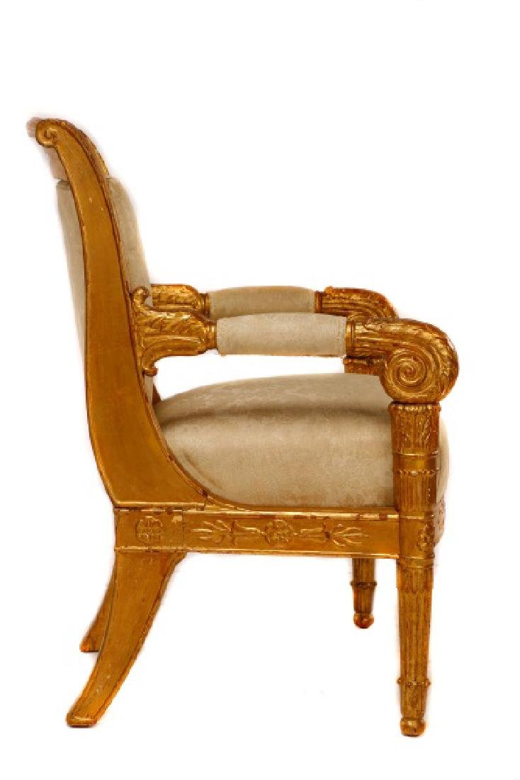 Fine Late Empire French Giltwood Fauteuil, Werner - 4