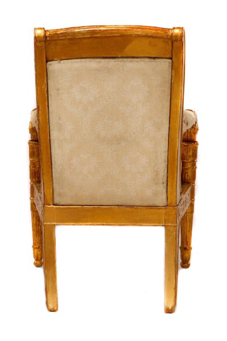 Fine Late Empire French Giltwood Fauteuil, Werner - 5