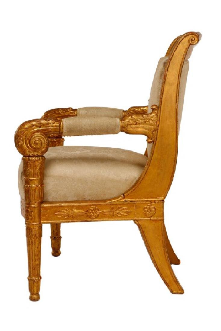 Fine Late Empire French Giltwood Fauteuil, Werner - 6