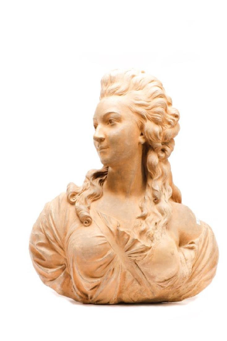 Large Terra Cotta Bust of Madame Pompadore