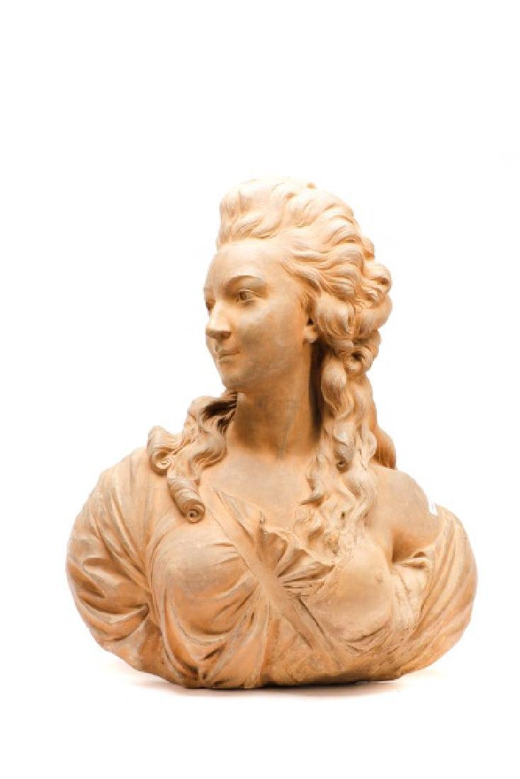 Large Terra Cotta Bust of Madame Pompadore - 2