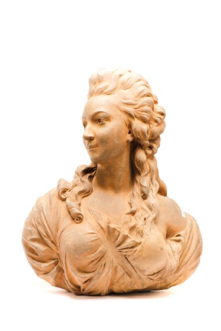 Large Terra Cotta Bust of Madame Pompadore - 4