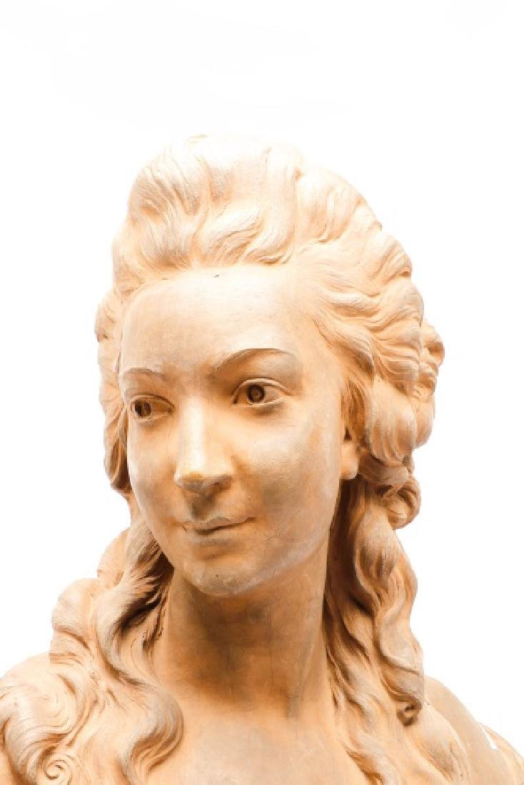 Large Terra Cotta Bust of Madame Pompadore - 5