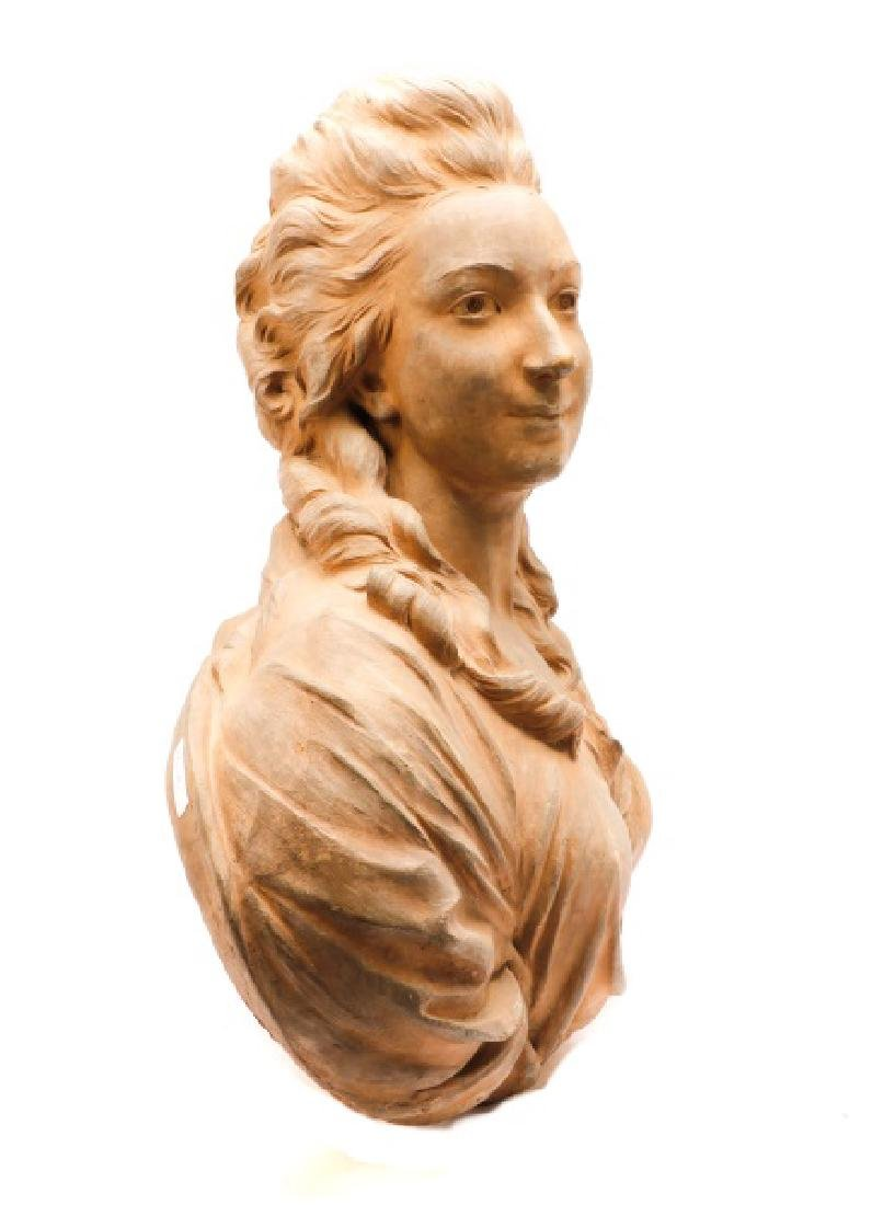 Large Terra Cotta Bust of Madame Pompadore - 7